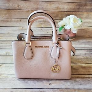 Michael Kors Camille Small Crossbody Leather Pink